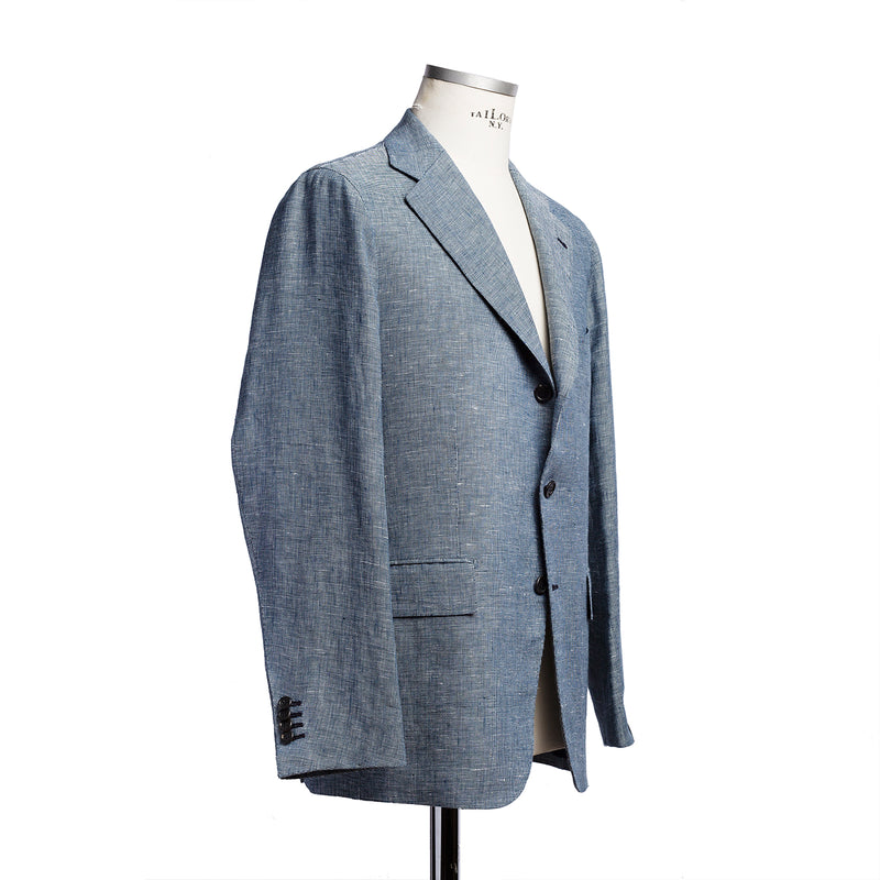 Blue jacket in Harrisons linen