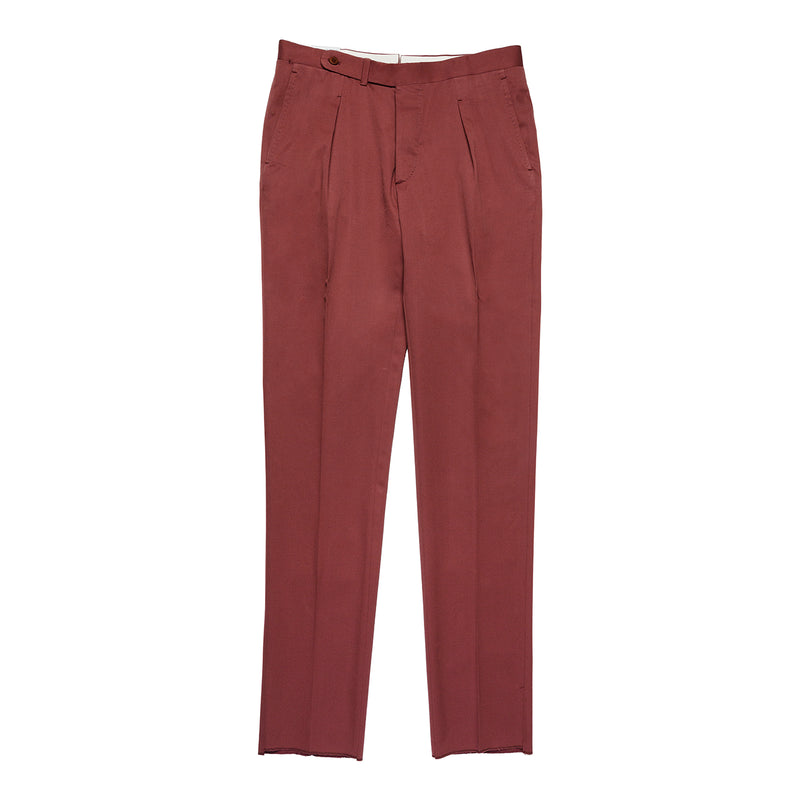 Burgundy pants in wool and cotton from Solbiati