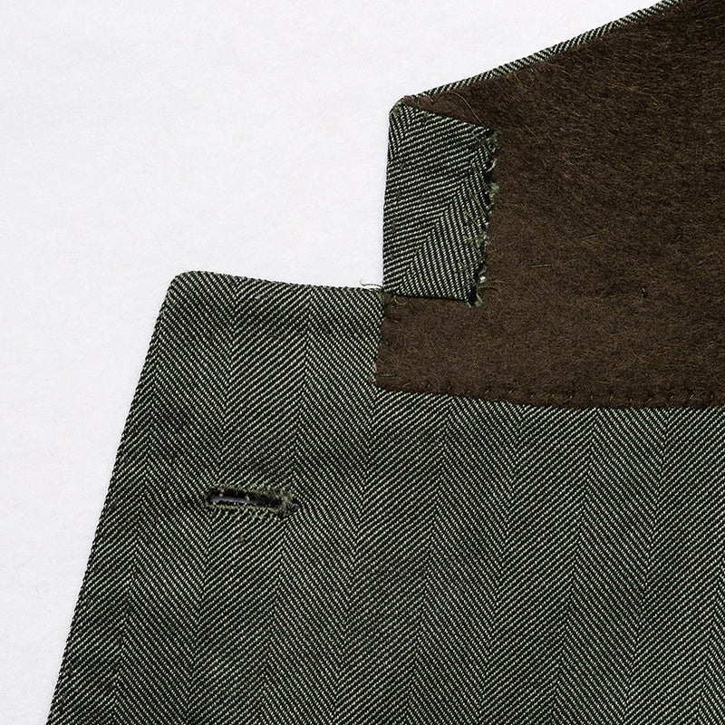 Olive jacket in virgin wool from VBC