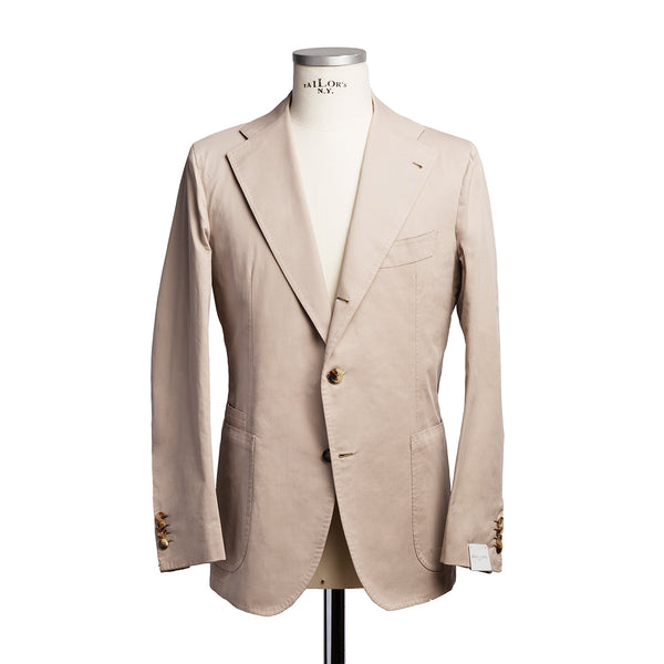 Beige cotton cashmere jacket