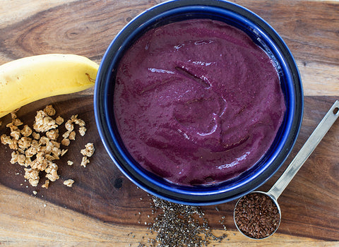 purple corn, flax, chia