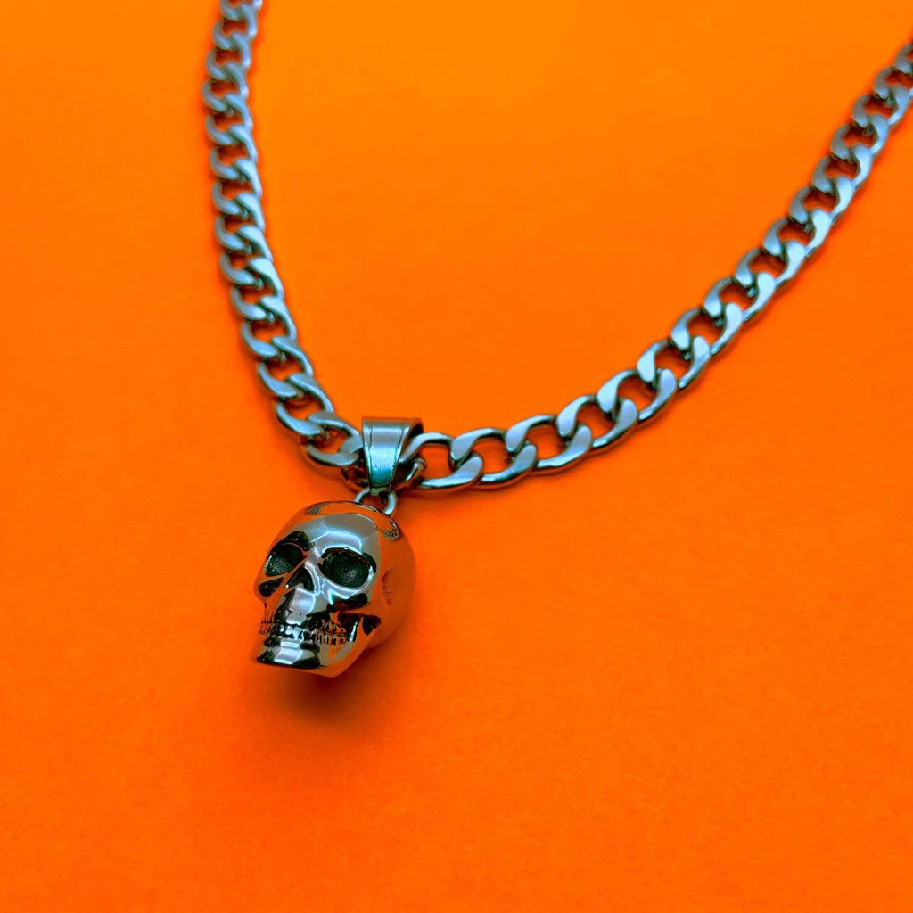 Personal Fears chain Chrome Dome Skull Chain Necklace - Ltd. Edition Stainless Steel Jewelry