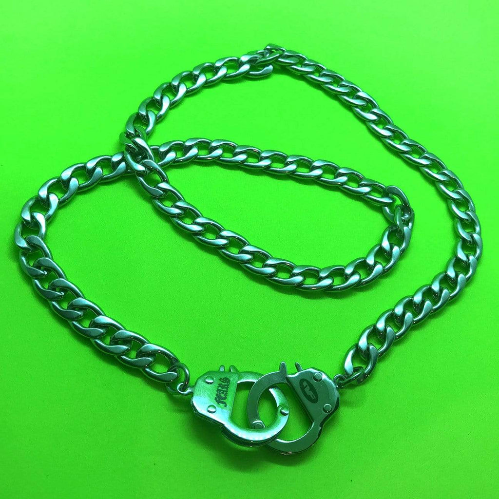 Personal Fears chain Handcuff Chain Necklace Stainless Steel Jewelry