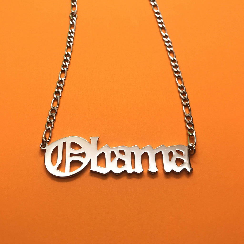 Personal Fears chain Obama Chain Necklace Stainless Steel Jewelry