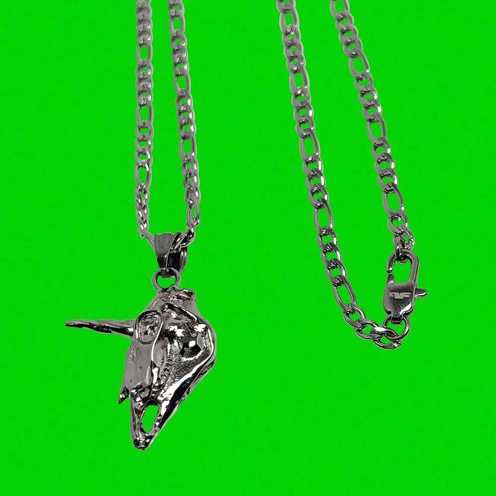 Personal Fears chain Unicorn Skull Pendant Chain Stainless Steel Jewelry