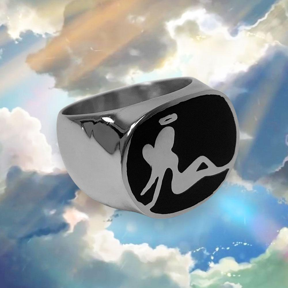 Personal Fears ring Angel Mudflap Ring Stainless Steel Jewelry