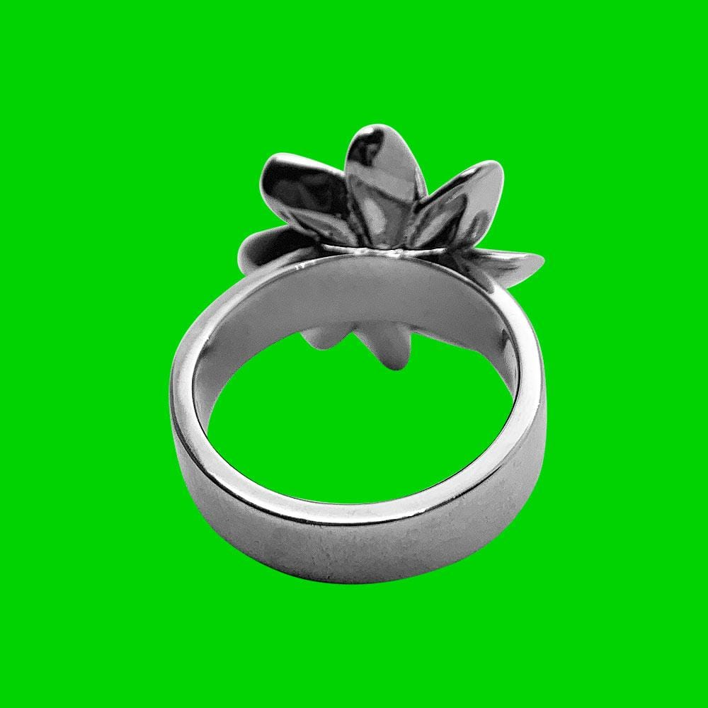 Personal Fears ring Death Flower Ring Stainless Steel Jewelry