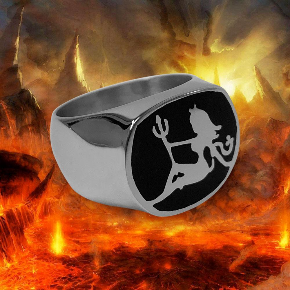 Personal Fears ring Devil Mudflap Ring Stainless Steel Jewelry