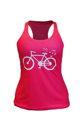 🚲 PurePower Cycle | Women's Pink Tank Top Racerback | 2021