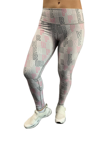 🚲 PurePower Cycle | Letters Gray Leggings | Best price 2021