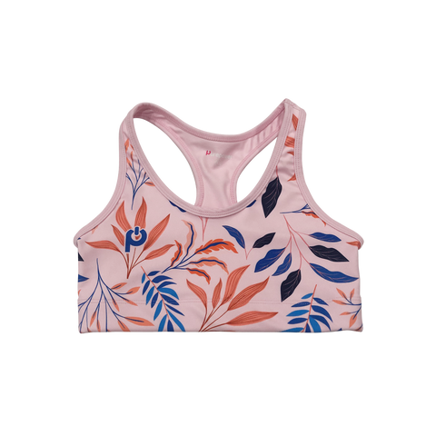 Purepower Sports Bra Floral Dusty Pink