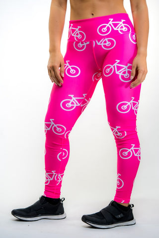 🚲 PurePower Cycle | Pink Bikes Leggings | Best price 2021