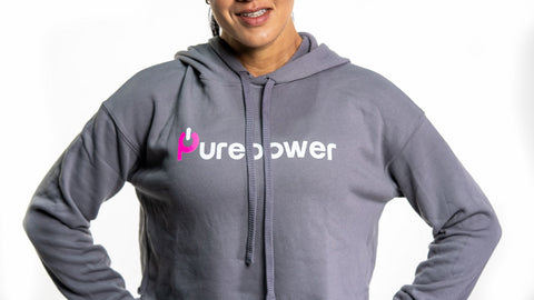 🚲 PurePower Cycle | Women's Gray Crop Hoodie | Best price 2021