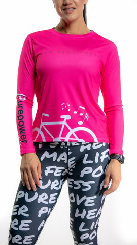 🚲 PurePower Cycle | Women's Pink cycling Jersey shirt | Price 2021