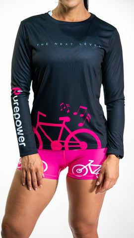 🚲 PurePower Cycle | Women's Black cycling Jersey shirt | Price 2021