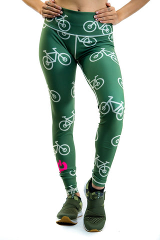 🚲 PurePower Cycle | Green Bikes Leggings | Best price 2021
