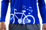 🚲 PurePower Cycle | Men's Blue Jersey cycling shirt | Price 2021