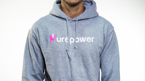 🚲 PurePower Cycle | Gray Black Hoodie | Best price 2021