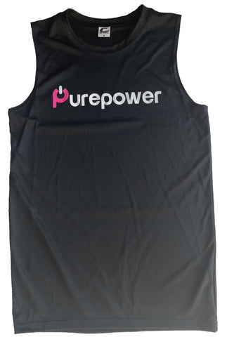Men's Sleeveless Top Purepower Black