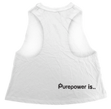 🚲 PurePower Cycle | Women's White Crop Top | Best price 2021