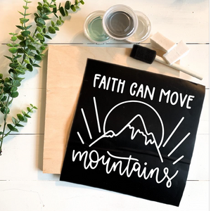 Diy Kit-Faith Can Move Mountains