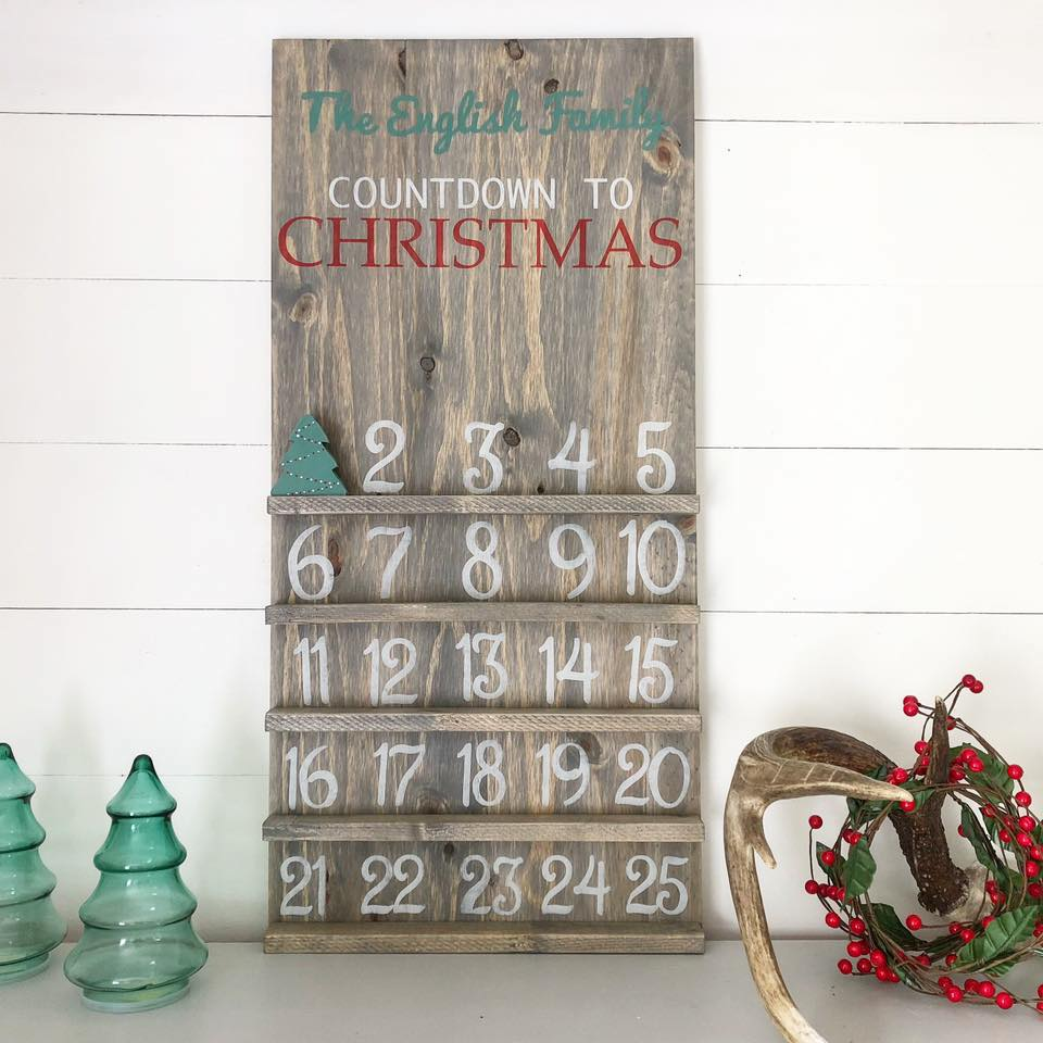 Last Name Christmas Countdown