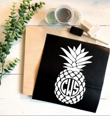 Diy Kit-Pineapple Monogram