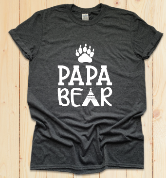 DIY Shirt Box-Papa Bear
