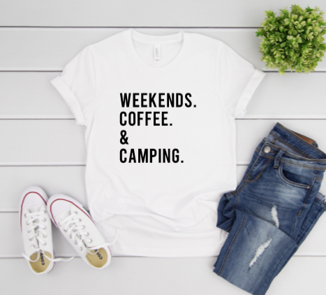 DIY Shirt Box- Weekends, coffee & camping