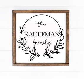 Last Name Circle Wreath
