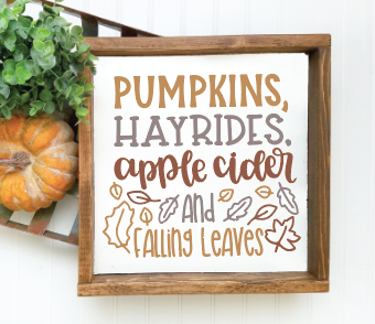 PUMPKINS, HAYRIDES, APPLE CIDER AND FALLING LEAVES