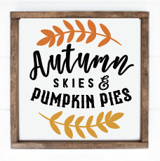 Autumn skies and pumpkin pies