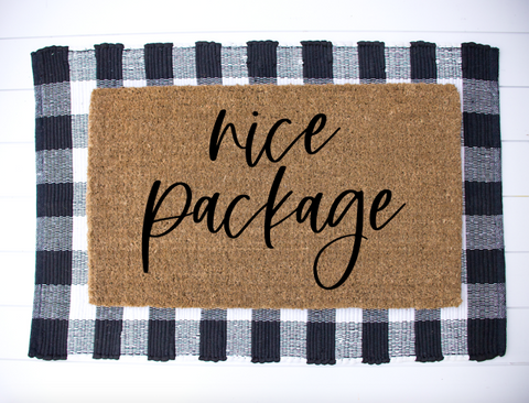 Nice Package Welcome Mat
