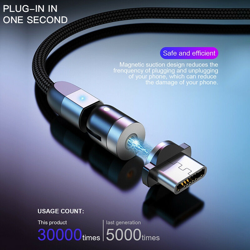 The Double 360° Rotation Magnetic 3 in 1 Cable™.
