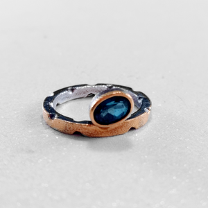 London Blue Topaz and 22 Karat Gold