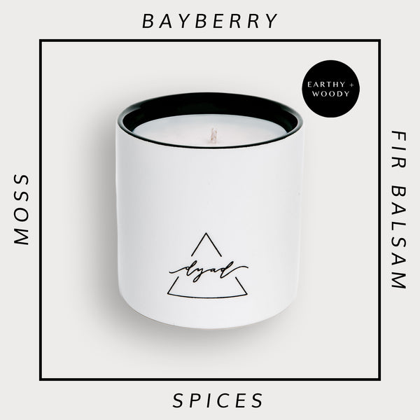 Dark + Stormy - Dyad Candle | Luxury Ceramic Candles | Hand Poured in Los Angeles
