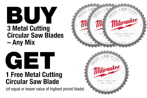 Milwaukee Metal Cutting Saw Blade Promo