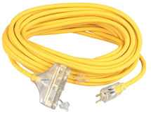 Coleman Cable Polar/Solar Plus Quadnector Three Way Extension Cords