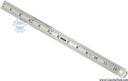 "General 1201ME 12"" Precision Stainless Steel Rule"