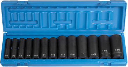 "Grey Pneumatic 1312D 1/2"" Impact Socket Set"