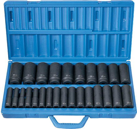 "Grey Pneumatic 1326MD 1/2"" Impact Socket Set"