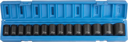 "Grey Pneumatic 1412M 1/2"" Impact Socket Set"