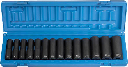 "Grey Pneumatic 1412MD 1/2"" Impact Socket Set"
