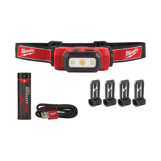 Milwaukee 2111-21 USB Rechargeable Hard Hat Headlamp Image 1