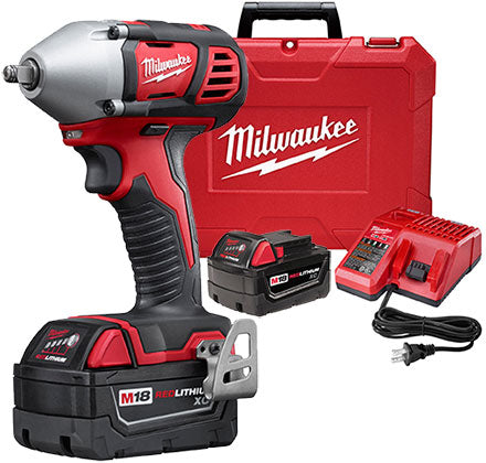 "Milwaukee 2658-22 M18 3/8"" Impact Wrench Kit"