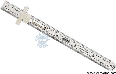 "General 300/1 6"" Precision Stainless Steel Rule"