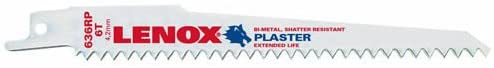 Lenox Plaster-Cutting Bi-Metal Reciprocating Saw Blades