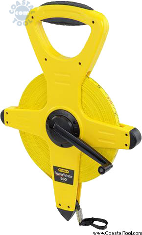 Stanley 34-762 300' PowerWinder Fiberglass Long Tape