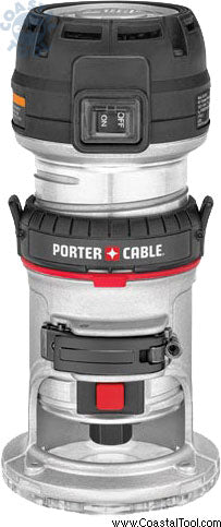PORTER-CABLE 450PK 1.25 HP Compact Router Fixed//Plunge Combo Kit with DNP614 Compact Router D-Shaped Sub Base