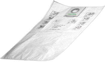 Festool 497539 CT 48 Filter Bag 5 Pack